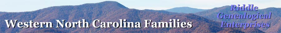 Western North Carolina Families - Riddle Genealogical Enterprises